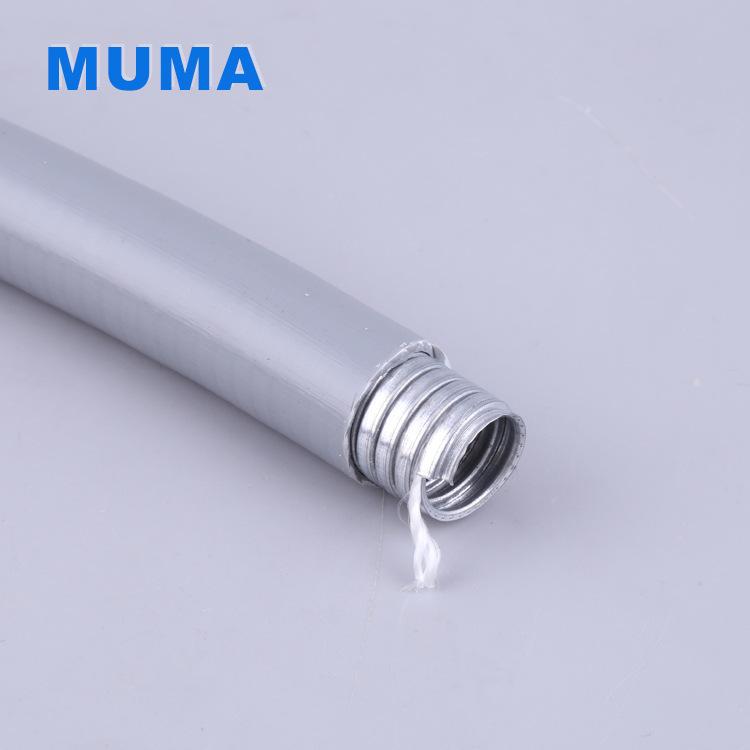 厂家直销PVC嵌棉线平包包塑管φ12防水阻燃环保抗拉力强棉线管