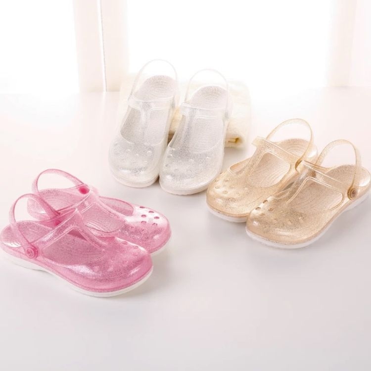 水晶洞洞鞋女夏季外穿家居休闲室内塑料沙滩时尚玛丽珍防滑凉拖鞋