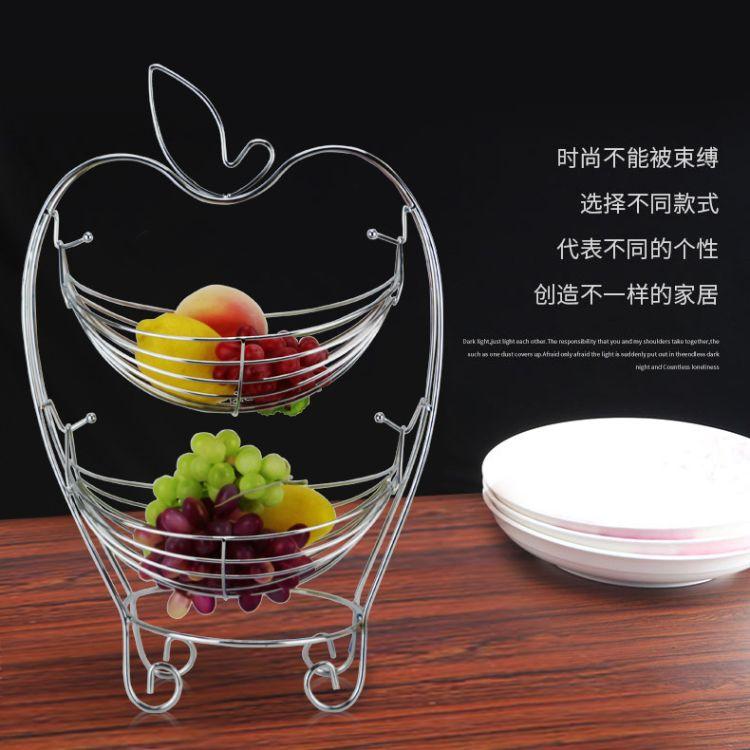 创意水果篮客厅茶几家用水果收纳篮摇摆多功能沥水篮
