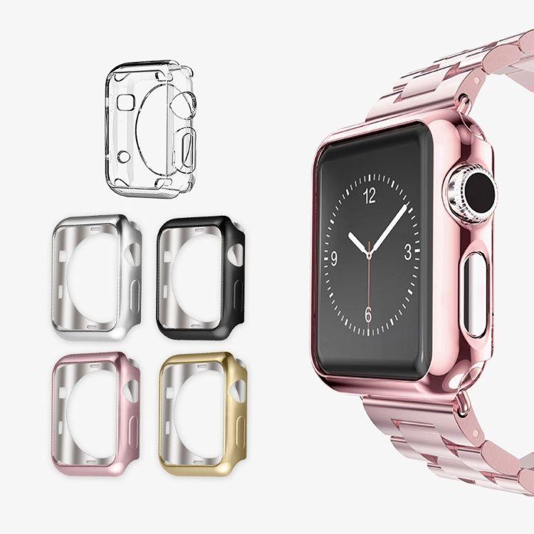 适用于Iwatch手表二三代通用的  电镀TPU硅胶软保护套38/42
