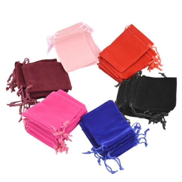 绒布袋 束口袋定制 抽绳袋现货批发 美容棒礼品袋