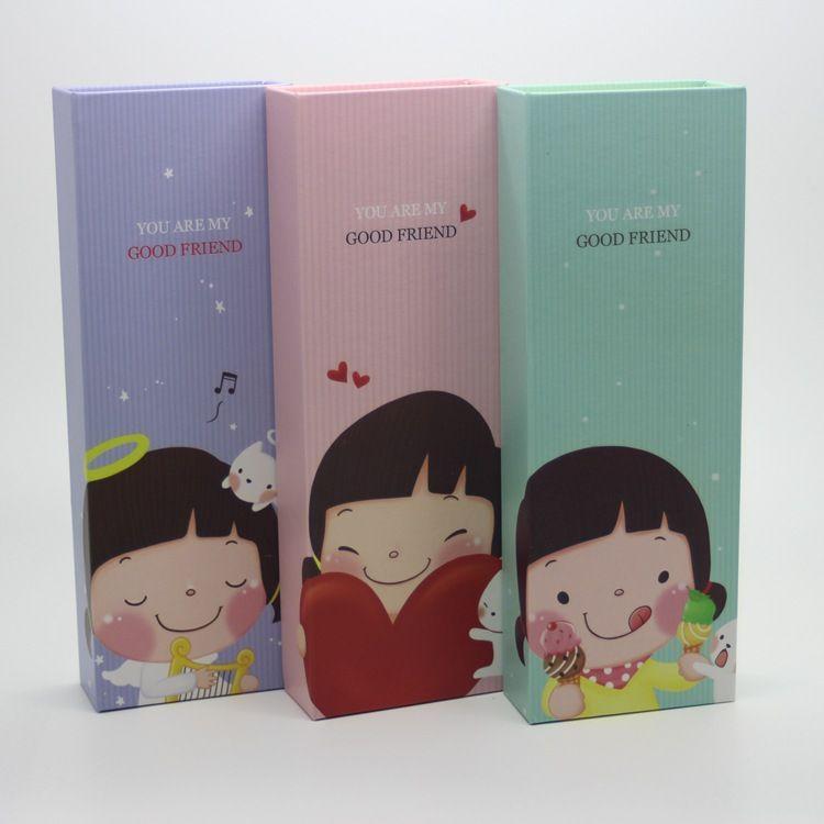 批发520学生女孩文具盒铅笔盒 韩国可爱小丫头 学习文具
