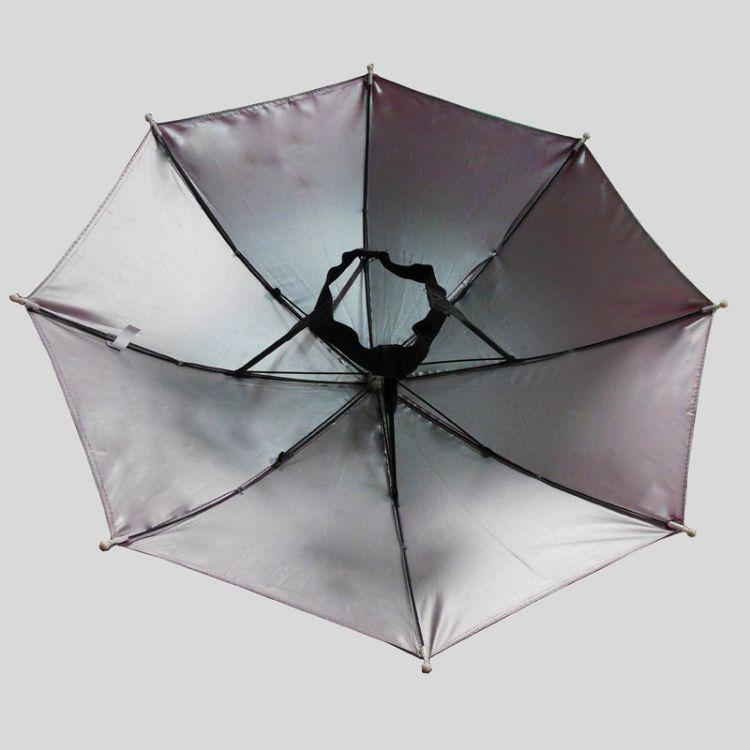 厂家直销帽子伞伞帽钓鱼伞户外活动用具儿童玩具伞银胶布防紫外线