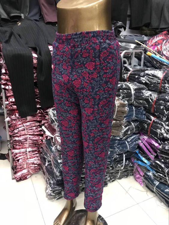 驼绒棉裤三层加厚女士加肥外穿打底裤中老年保暖裤奶奶裤妈妈裤