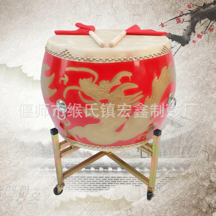 鼓 厂家直销打击乐器优质牛皮大鼓14寸16寸18寸20寸 龙鼓