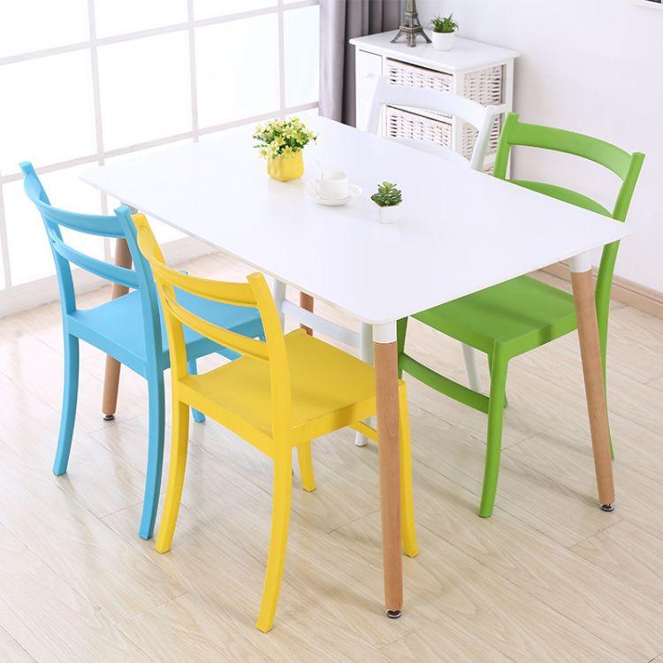 简约现代家用塑料懒人椅咖啡厅创意洽谈椅学生书桌椅北欧塑料椅子