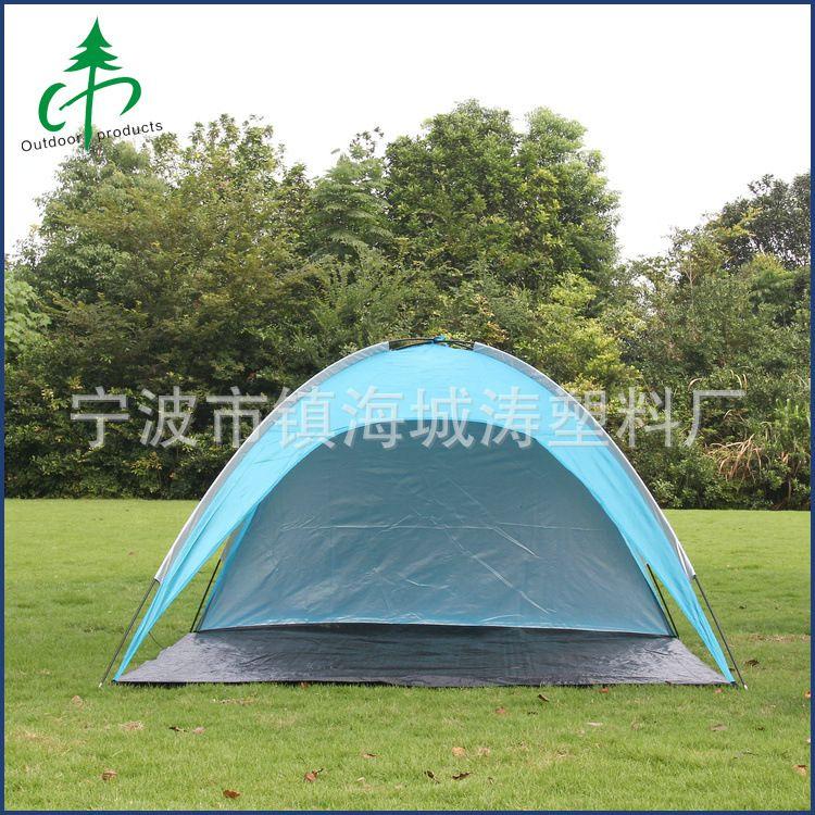 厂家直销 单层帐一室一厅双人帐篷 免搭建速开户外帐篷