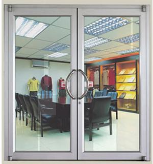 梅州市专业生产肯德基门 肯德基门型材门 铝合金平开大门