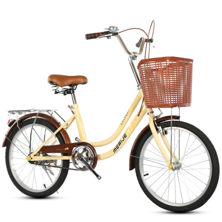 通勤女式自行车20寸24寸轻便自行车学生成人儿童特价淑女车