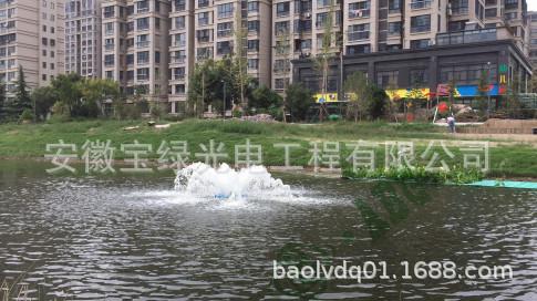 安徽宝绿供应喷泉式曝气机-太阳能喷泉式曝气机