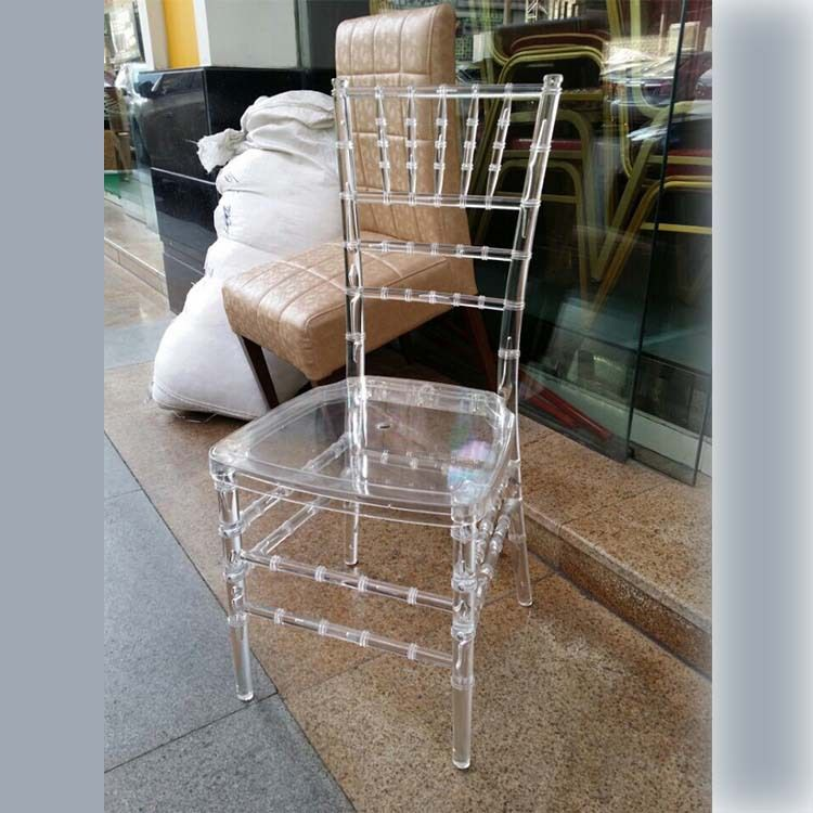 批发宴会椅子餐厅婚庆椅户外亚克力塑料椅子 透明树脂竹节椅