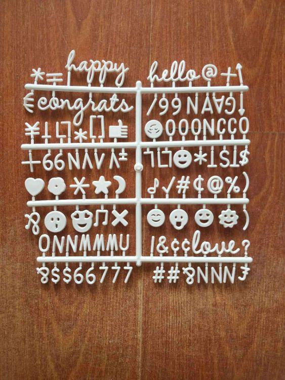 亚马逊felt letter board毛毡板留言板cais字母原版表情