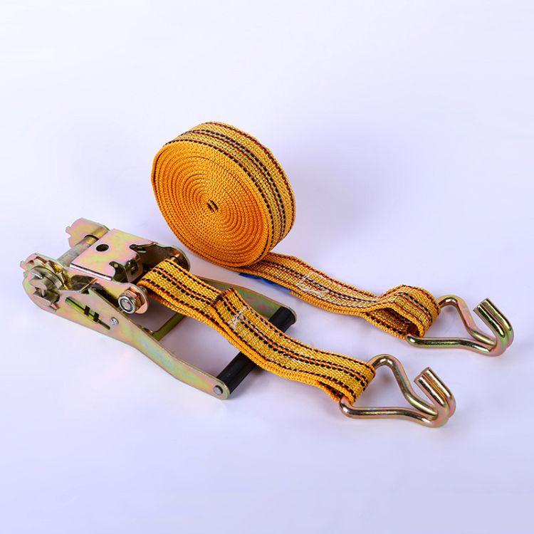 厂家直销丙纶4公分彩色捆绑织带紧绳器车用固定捆绑带可定制规格