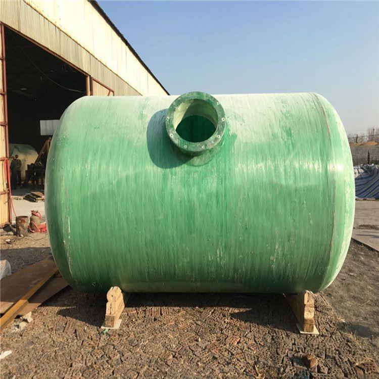 厂家直销 玻璃钢化粪池  卧式消防水罐 二手玻璃钢储罐防腐储罐