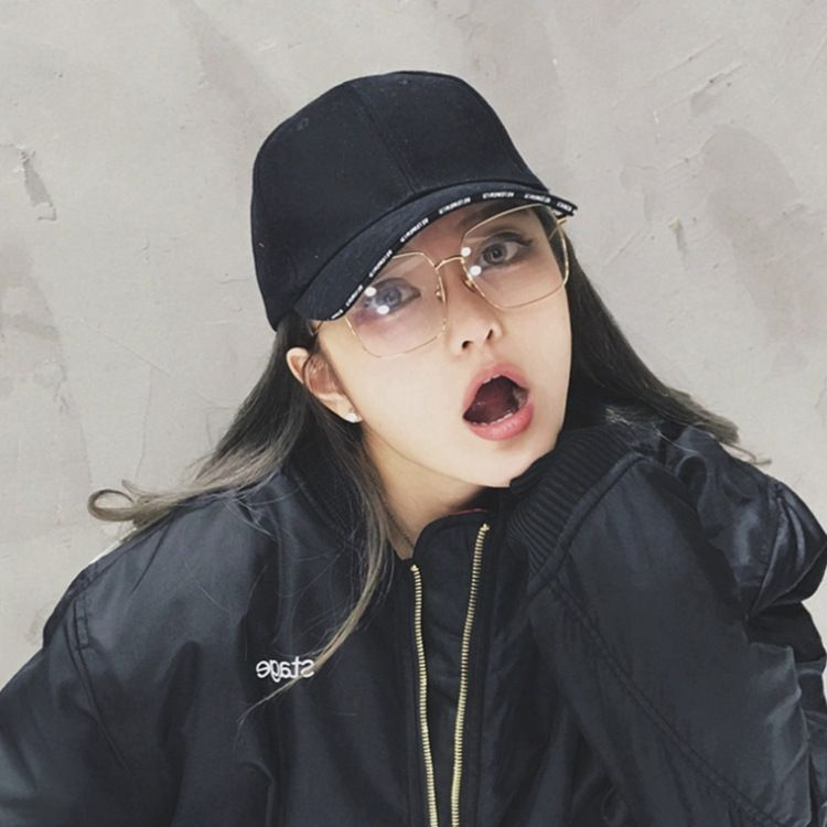 2018潮人同款眼镜框女韩版潮防蓝光辐射复古圆脸大框显瘦素颜平光