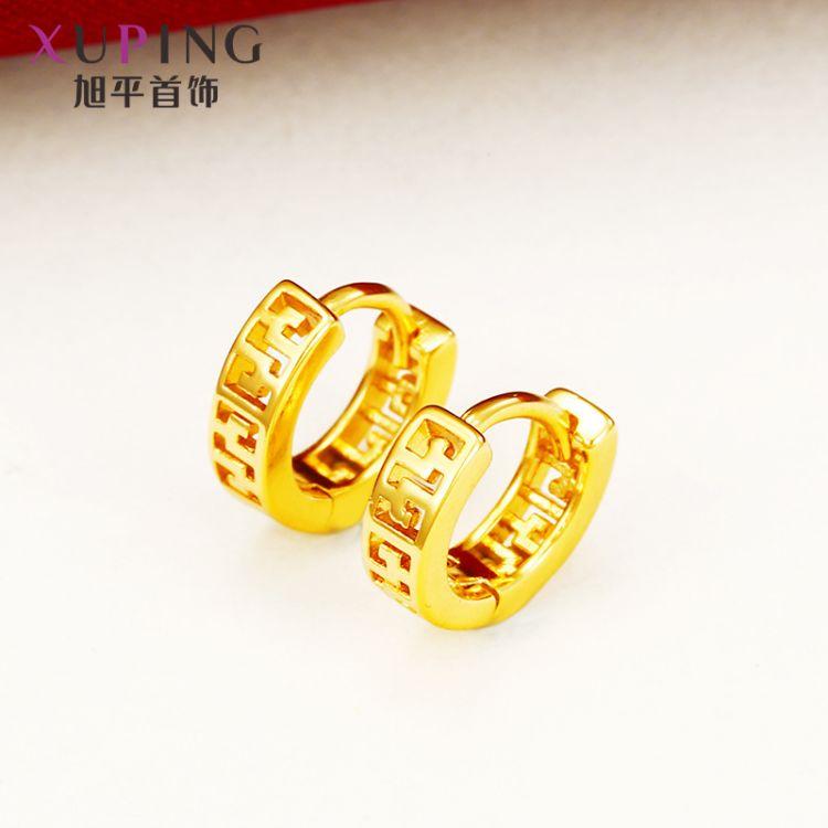 旭平首饰 仿黄金色复古越南沙金耳扣女饰品 厂家直销小饰品耳环