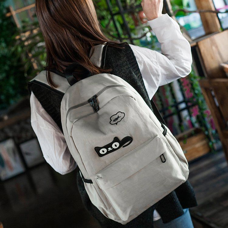 韩版百搭学院风牛津布双肩包学生书包大容量简约女包厂家直销