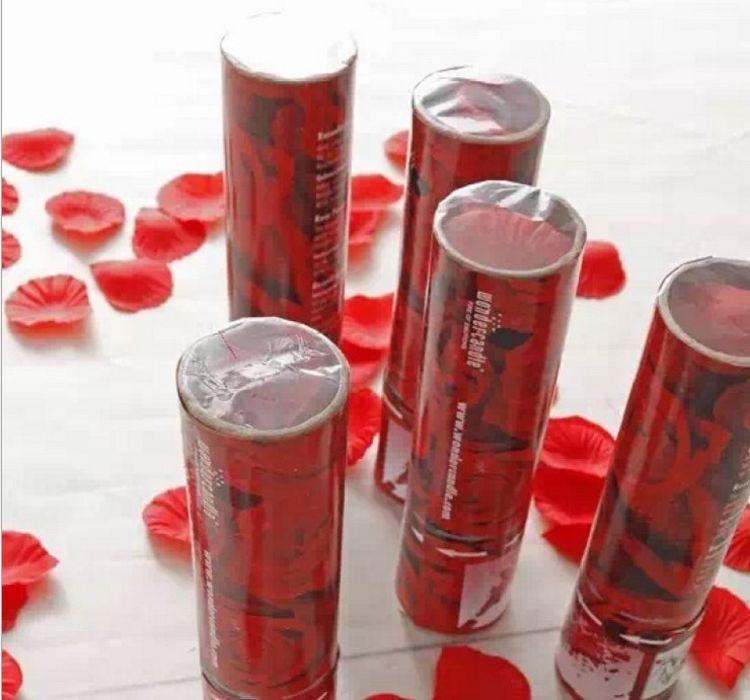 塑料透明可视玫瑰花花瓣礼花 新人结婚婚礼专用礼炮厂家直销
