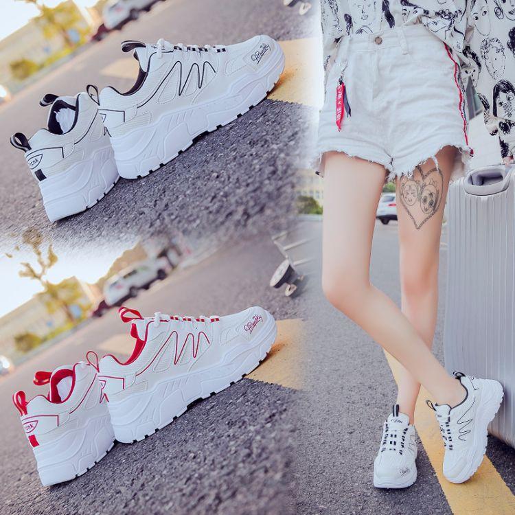 超火的老爹鞋女韩版ulzzang运动鞋女韩版百搭增高鞋学生松糕鞋