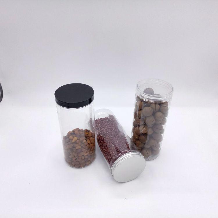大口罐子 厂家批发 85*200 食品罐 透明玻璃质感 零食糖果罐子