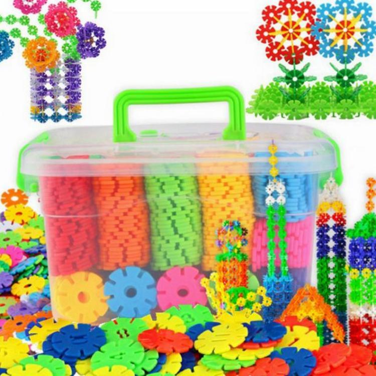 奥凯得 时尚创意幼儿智力儿童玩具雪花片 塑料拼插积木