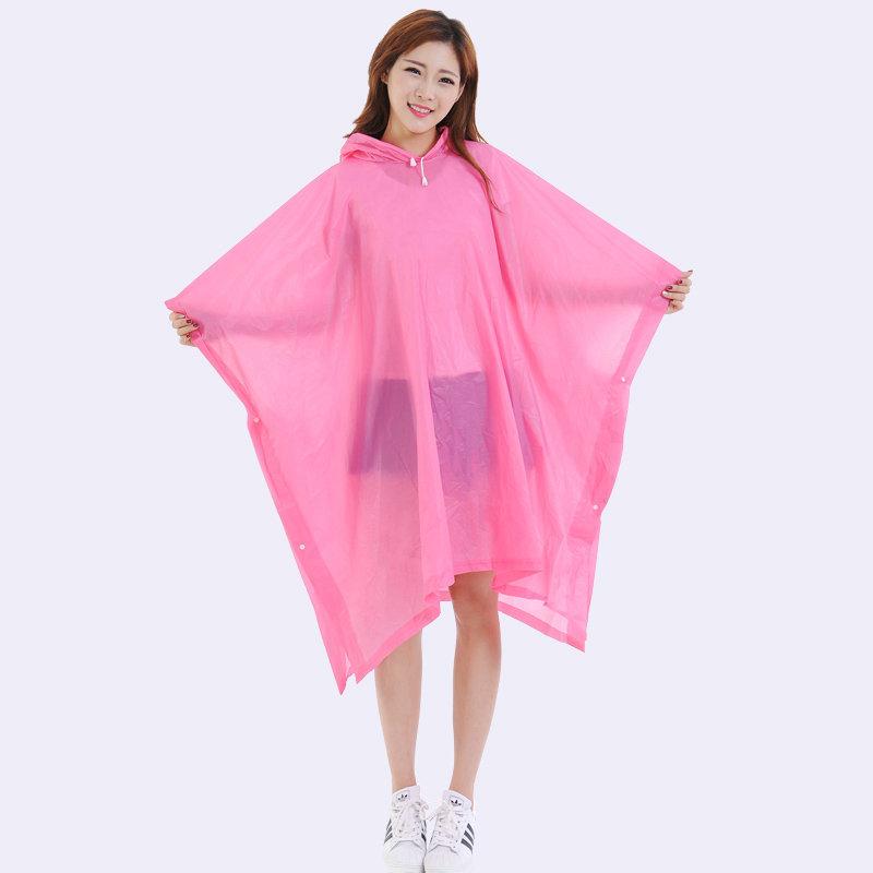 厂家直销批发时尚彩色环保EVA成人创意斗篷雨衣 非一次性雨衣雨披