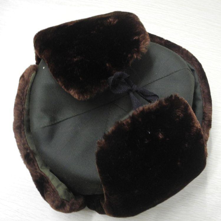 现货供应 防寒雷锋帽 经典军绿棉帽冬季护耳保暖 深棕色防风帽