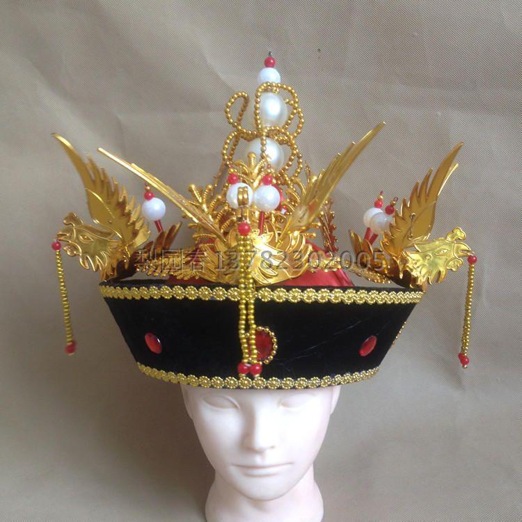 清朝太后帽皇后帽古装影视舞台表演皇后头冠戏曲戏剧用品