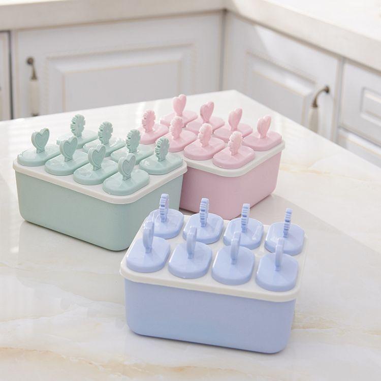 厂家直销 创意厨房冰棒冷冻磨具 自制冰激凌DIY冰格雪糕模具