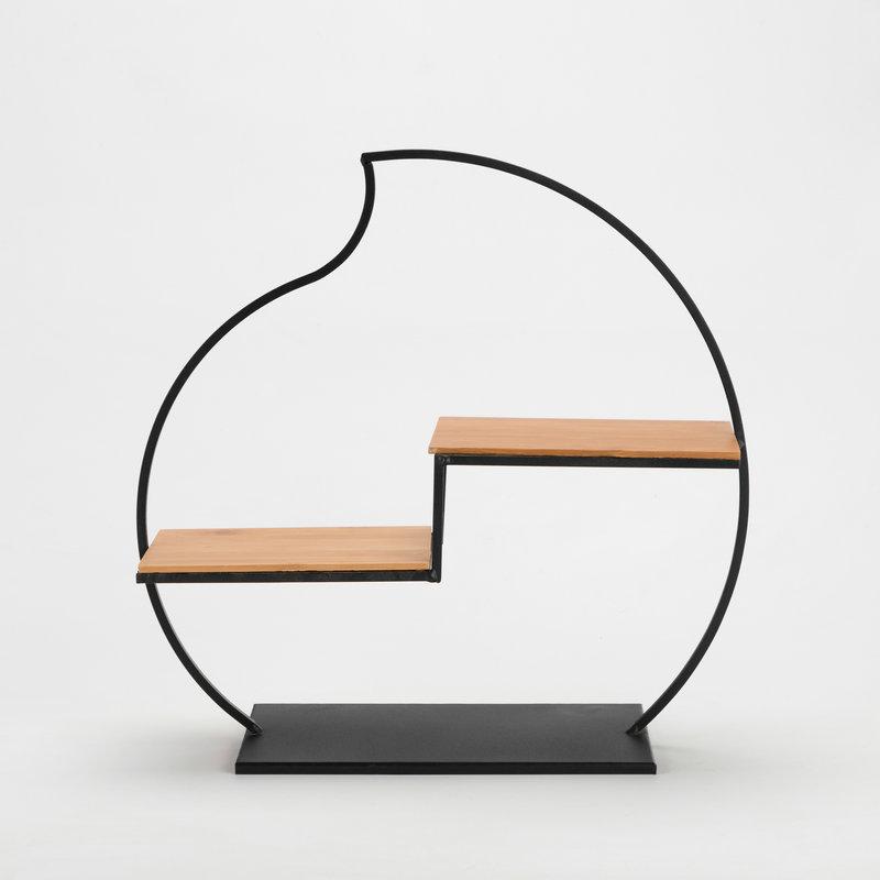 新中式博古架 创意铁艺收纳博古架 中式客厅小博古架 茶具配件