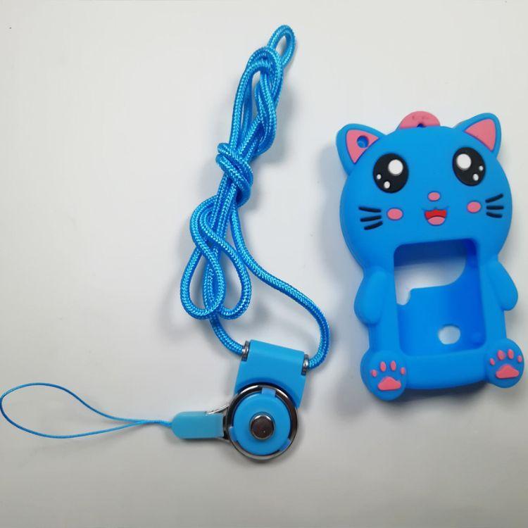 新款儿童手表保护套定制智能定位电话手表硅胶套带挂绳工厂直销