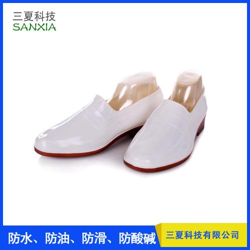 神象金橡雨鞋白色马口鞋浅口雨鞋防油耐酸碱食品类雨鞋食品厂专用