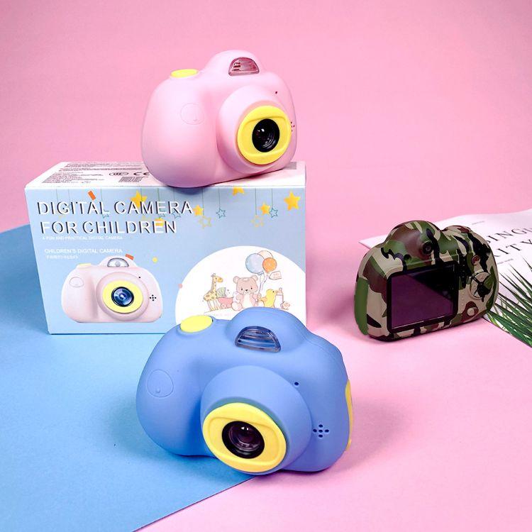 新款跨境双镜头儿童防抖数码照相机四代儿童益智数码相机原装正品