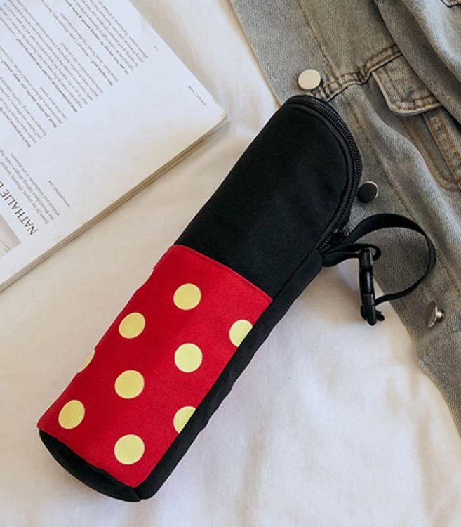 伊美媞新款保温袋经典时尚帆布 暖水瓶袋 奶瓶保温包