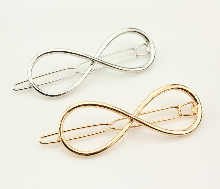 欧美时尚 甜美 镂空合金金属8字形 蝴蝶结形夹发夹刘海夹青蛙夹