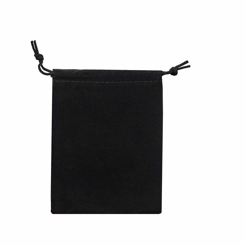 现货批发绒布束口袋饰品首饰收纳产品包装赠品礼品黑色绒布袋定制