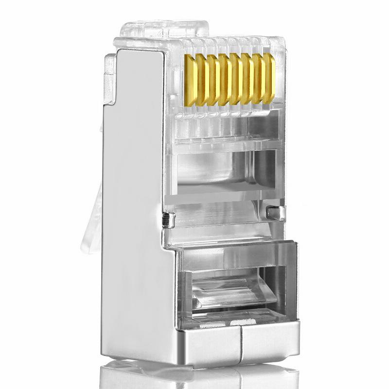 Vcom 唯康超五类水晶头 RJ45百兆网络线接头 屏蔽水晶头