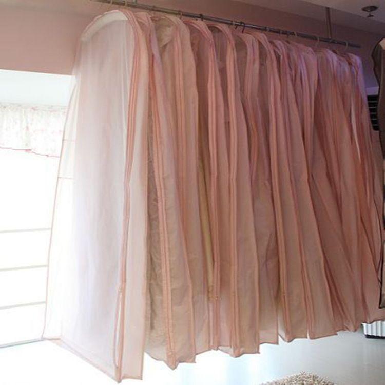 厂家直销 婚纱1.5米防尘衣罩深粉色万国胶婚纱套透明批发礼服袋子