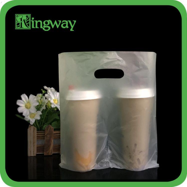 专业定制PO磨砂半透明手挽食品奶茶包装袋 可印刷LOGO 免费打样