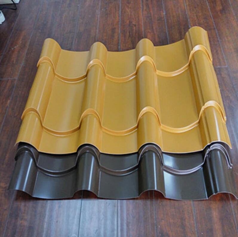 厂家供应 灰色 0.5mm 彩钢瓦YX28-207-828 仿古建筑金属琉璃瓦