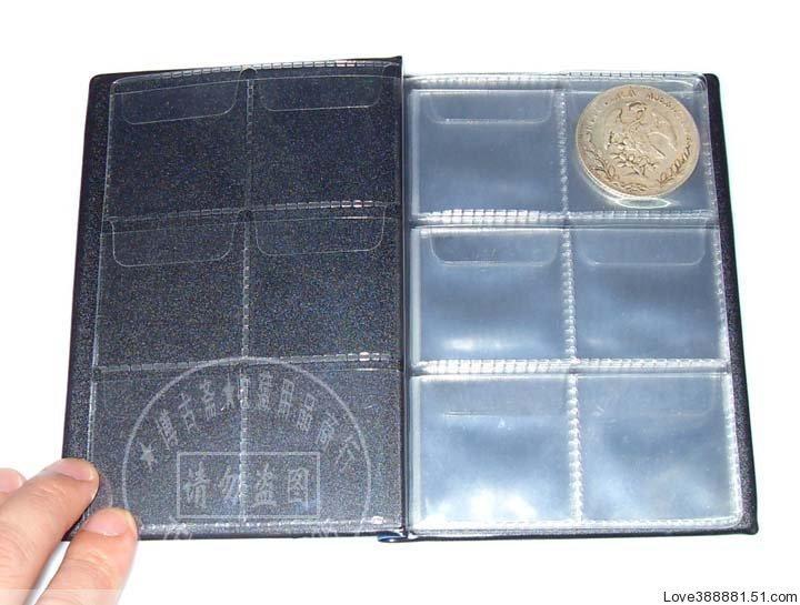 瑕疵处理  优质60枚银元册 银币册 硬币收藏册 小苏式