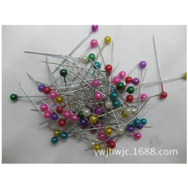 锦豪 438珠光针 彩色珠光针 盒装珠光针 彩色珍珠大头针