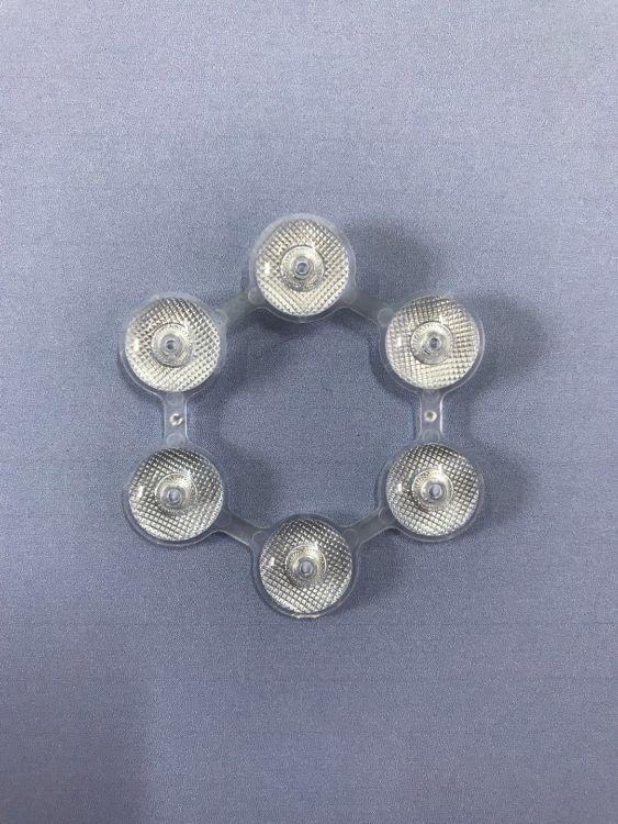 厂家定制  亮化灯  6点连体透镜  透镜LED 学光镜片加工定制