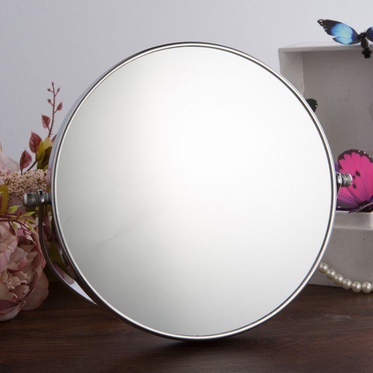 缪思折叠便携化妆镜10倍放大双面台式卧室柜台镜补妆穿衣高清镜子