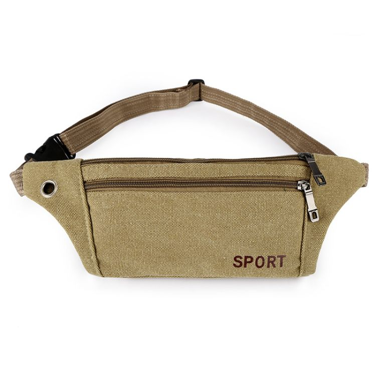 定制男女腰包休闲帆布运动户外包时尚耐磨防盗手机小腰包一件代发