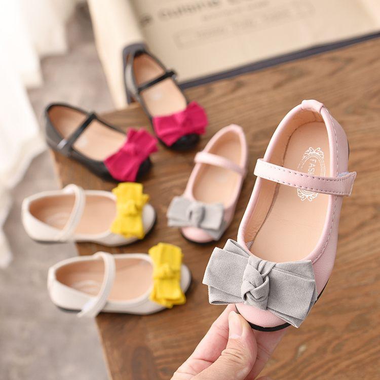 女童皮鞋公主鞋鞋子2019新款单鞋儿童女黑色宝宝童鞋软底黑演出鞋