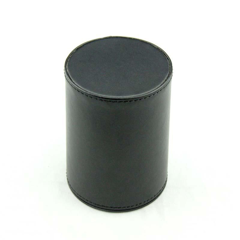 工厂批发定做黑色耐用PU皮革色盅酒吧KTV娱乐骰盅