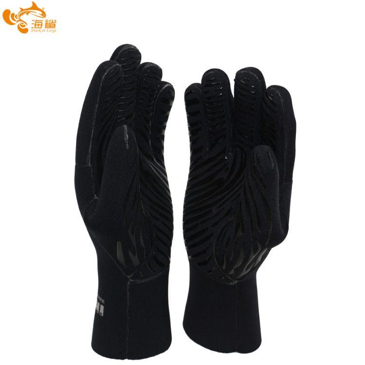 厂家直销订做3mm浮潜游泳手套 硅胶印刷防滑耐磨 保暖潜水手套