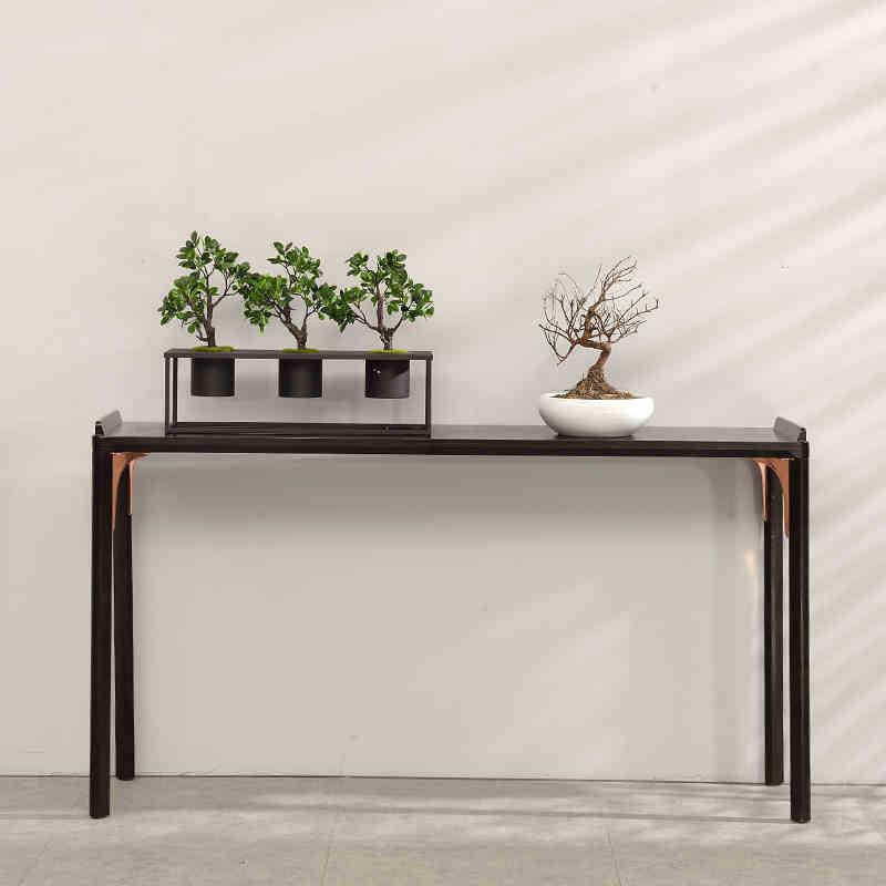 新中式条案禅意实木玄关桌现代简约样板房客厅家具白蜡木玄关台