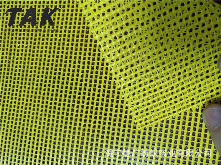 B1防火荧光黄 PVC网格布 建筑用防护网格布 1000D PVC浸渍网眼布 网眼布材料